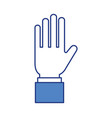 business hand man showing five fingers vector image