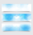 abstract blue horizontal banners with vector image