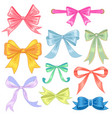 bows set vector image