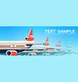 airplanes flying in sky express air delivery vector image