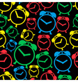 alarm clock colors icons seamless pattern eps10 vector image