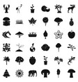 animal icons set simple style vector image vector image