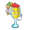 artist mimosa character cartoon style vector image