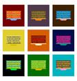 assembly of flat shading style pixel icon pancake vector image