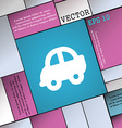 Auto icon sign Modern flat style for your design vector image