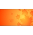 Autumn banner with blurred maple leaves vector image vector image