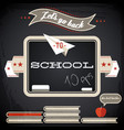 back to school retro concept vector image vector image