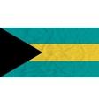 Bahamas paper flag vector image vector image