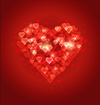 Beautiful abstract heart Bokeh background vector image