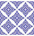 blue floral decorative pattern vector image vector image