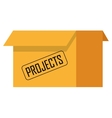box with projects icon vector image