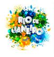 brazilian flag brazil carnival watercolor paints vector image