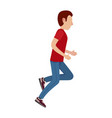 cartoon male character in motion vector image