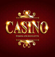 Casino Poster Background vector image vector image