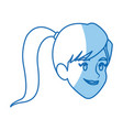 character face girl smile lifestyle vector image