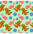 Children toys seamless retro pattern vector image vector image