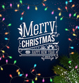 Christmas card with typography design Blue vector image
