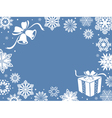 Christmas greeting card in blue shades vector image vector image