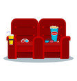 cinema red armchair vector image