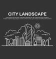 city landscape template vector image vector image