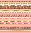 Colorful ethnic triangle seamless pattern design
