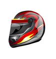 crash helmet vector image vector image