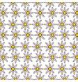 cute flowers garden decorative pattern vector image vector image