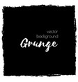 dark black grunge watercolor ink texture frame vector image vector image