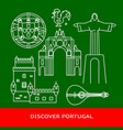 discover portugal banner or poster template with vector image vector image