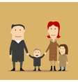 Family having fun on a walk in an autumn day vector image vector image