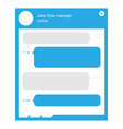 flat design online chat with manager template vector image