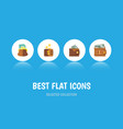 flat icon purse set of finance payment money and vector image vector image