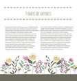 floral template in flat design style with vector image vector image
