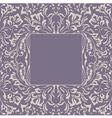 frame floral plant background vector image vector image