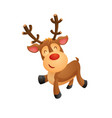 funny cartoon reindeer vector image