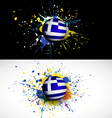 Greece flag with soccer ball dash on colorful vector image vector image
