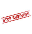 grunge textured stop business stamp seal vector image