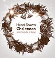 Hand Drawn Christmas Wreath vector image vector image