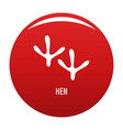 hen step icon red vector image