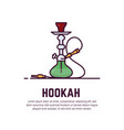 hookah line style banner vector image