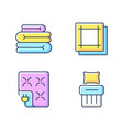 household textile rgb color icons set vector image vector image