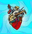jazz orchestra musical heart vector image