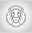 lion head icon logo vector image vector image