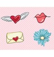 Love cute icons vector image vector image
