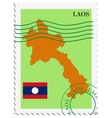 mail to-from Laos vector image