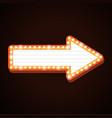 night club billboard retro arrow light frames vector image vector image