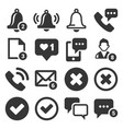 notification icons set on white background vector image vector image