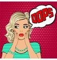 Oops Surprised young blonde woman vector image vector image