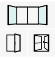 Open windows vector image vector image