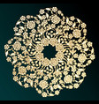 ornamental gold flower vector image